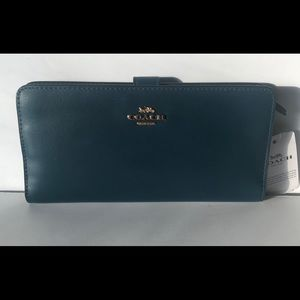 Coach Skinny Refined Leather Wallet
